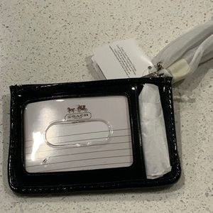 NWT coach keychain and ID HOLDER